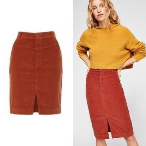 FREE PEOPLE ROSEMARY CORD SKIRT -  we the free